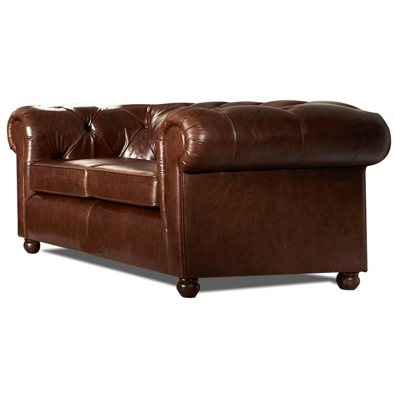 Canap chesterfield cuir vieilli mister canape - Canape chesterfield cuir 2 places ...