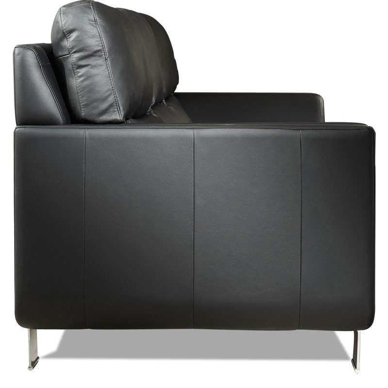 canape cuir noir 3 places bento mister canap. Black Bedroom Furniture Sets. Home Design Ideas