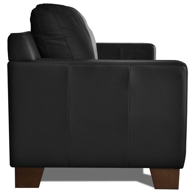 canape d 39 angle cuir noir victoria mister canap. Black Bedroom Furniture Sets. Home Design Ideas