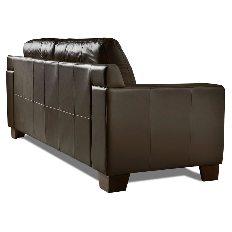 canape cuir chocolat 2 places vitoria mister canap. Black Bedroom Furniture Sets. Home Design Ideas