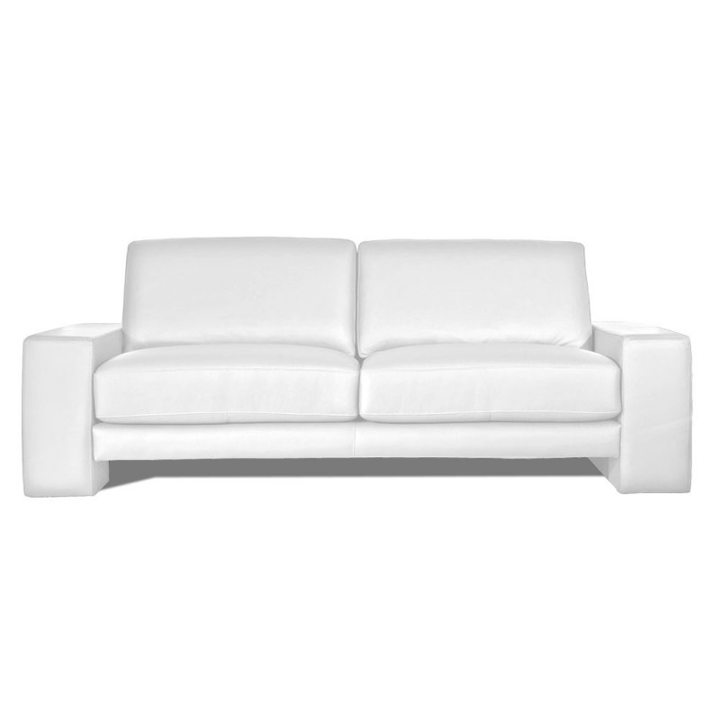 canape cuir blanc 3 places santos mister canap. Black Bedroom Furniture Sets. Home Design Ideas