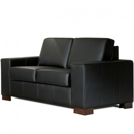canape cuir noir 2 places belem mister canap. Black Bedroom Furniture Sets. Home Design Ideas