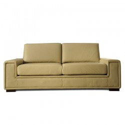 canape cuir beige 2 places, Rio