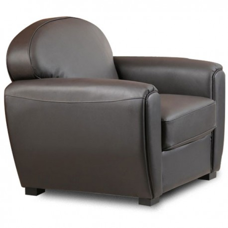 fauteuil club en cuir style vintage mister canape. Black Bedroom Furniture Sets. Home Design Ideas